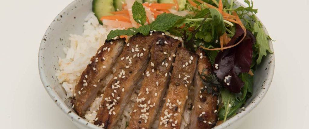 Grilled sesame pork Rice Bowl50 from Eat Mi Takeway and Restaurant in Auckland