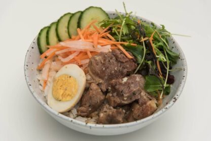 Braised Coconut Pork Rice Bowl from Eat mi take-away and restaurant in Auckland