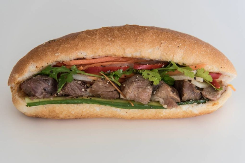 Braised Coconut Pork Banh Mi from eat mi takeaway and restaurant
