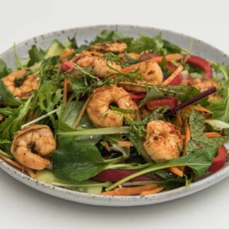 Pepper Garlic Prawns Salad by Eatmi takeway and restaurant in Auckland