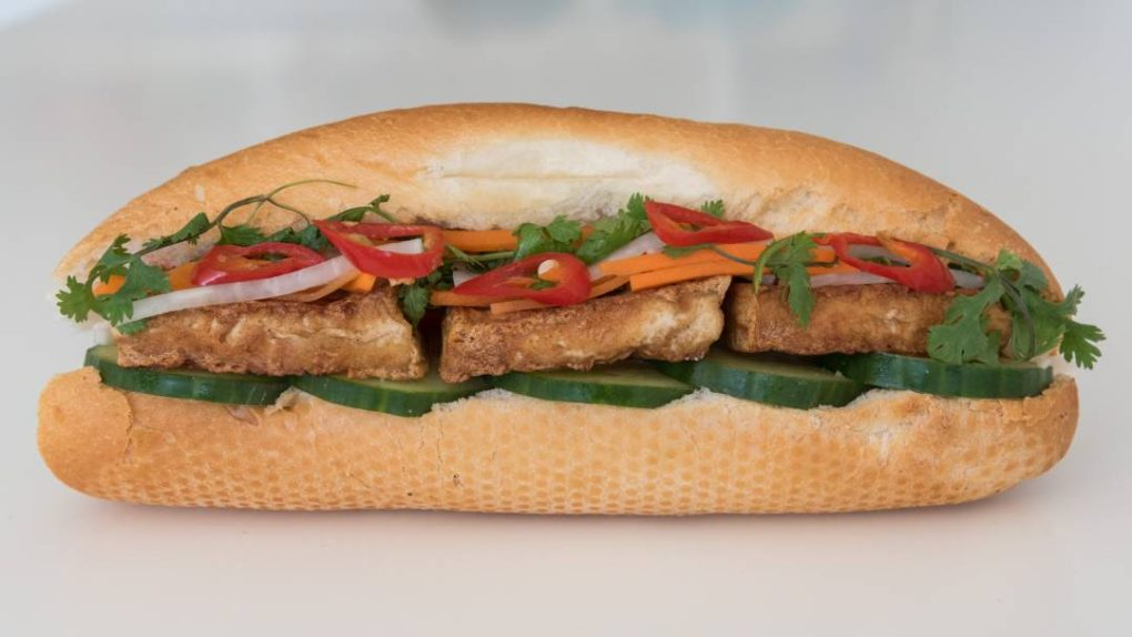 Crispy Tofu Banh Mi from Eat Mi Takeway and restaurant in Auckland