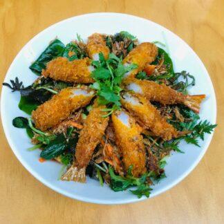 Crispy Prawns Salad from Eat mi Vietnamese Street Food in Auckland