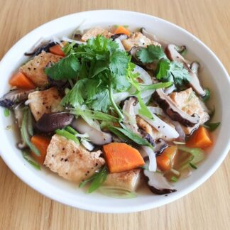 Tofu & Mushroom Noodle Soup from Eat Mi Takeaway and restaurant in Auckland
