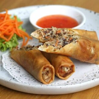 vegetarian or pork Spring Rolls